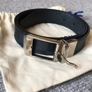 Louis Vuitton Reversible Noir Damier Belt